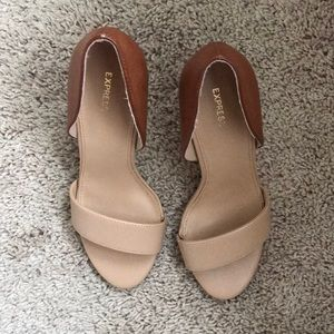 Two toned Express heels Size 7